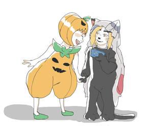 Halloween kids in August by CrazyCherryPie