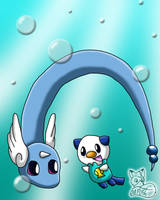 Swimming with Dragonair by MangaFox156