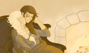 Elsa and Ildri by Arrietart