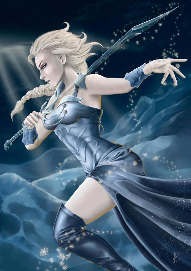 Elsa the Frozen Warrior ver.2 by Arrietart