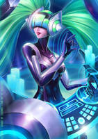 Dj Sona League of legends by Arrietart