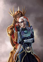 Leona x Diana League of Legends by Arrietart