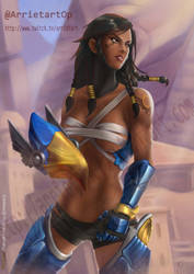 Pharah Overwatch by Arrietart