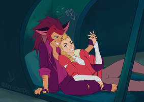 Catra x Adora from She-Ra by Arrietart