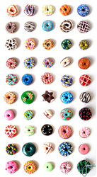 Colorful Donuts by SweetDeco