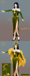 The details of Lady Loki costume by BBQfish
