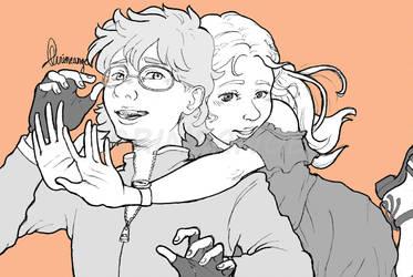Surprise Hug by Arineange
