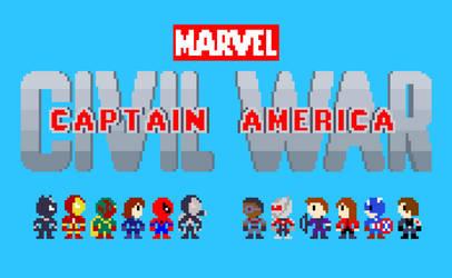 8-bit Civil War. by PxlCobit
