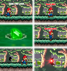 Mario VS Aeon (Part 2) by DrizzlyScroll1996