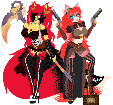 Contest: Steampunk Luna and Flames by InsanityBloodRose