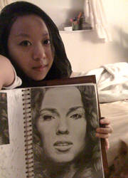 Me and My Sketchbook by Angel-Awaiting
