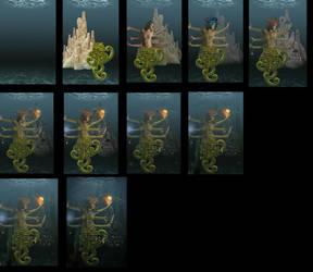 work progress of Alien Queen by confuzzledMia
