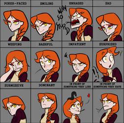 Hebiko expressions meme by Wakettina
