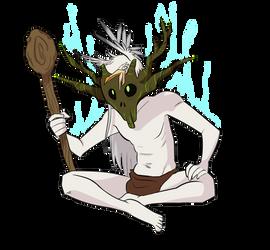 Sanjuro the Kiri (crazy) shaman by Wakettina