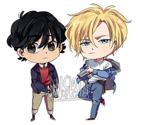 banana fish chibi by Danny-chama