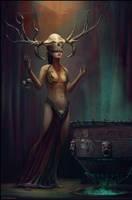 Deyanira - the witchdoctor by Chris-Karbach