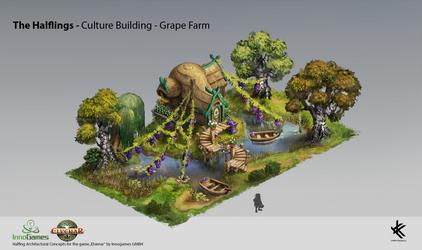 Halfling Culture Building - Grape Farm by Chris-Karbach