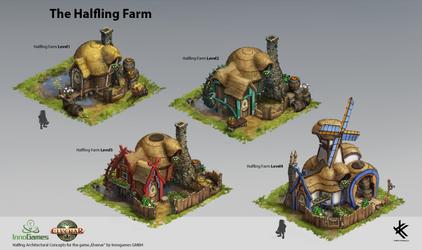 Halfling Farm - Concept Art by Chris-Karbach