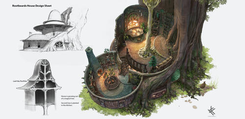 Rootbeard's House - Interior by Chris-Karbach