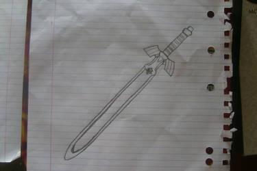 master sword un coloured by I-Am-Dark-Link