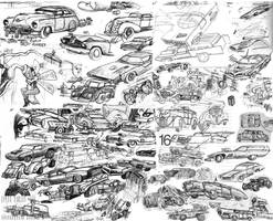 Vehicle doodles 03 by SteampunkGorgon