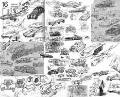 Vehicle doodles 04 by SteampunkGorgon