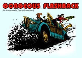 Frontcover for a Flash Gordon tribute rpg setting by SteampunkGorgon