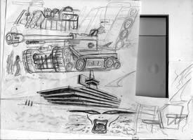 Free doodling: tank designs by SteampunkGorgon