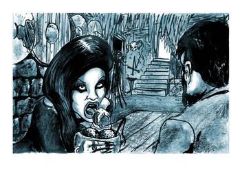 Inside the Yuggoth Icecream Parlor by SteampunkGorgon