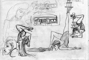 Contorsionist doodles by SteampunkGorgon