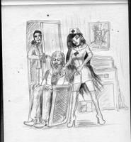 Ariane Eldar and St. Nic by SteampunkGorgon