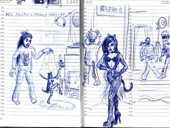 Quick  ballpoint fanart sketch by SteampunkGorgon