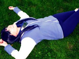 Hinata In the Grass by Hikari-Cosplay