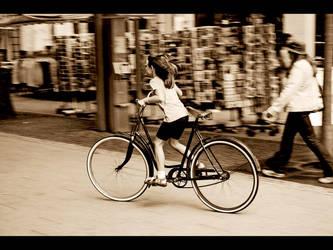 big bike -  small girl by jayfley