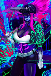 K/DA Akali neon / League of Legends by CyberneticKnight