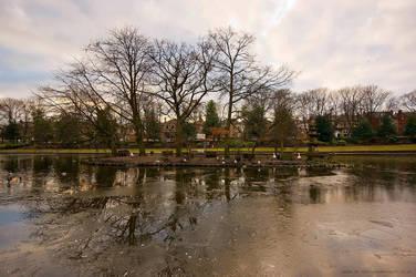 Frozen Lake Batley by GaryTaffinder