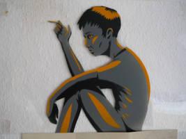 smoking stencil by INovumI