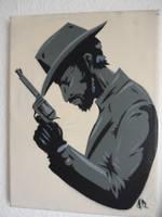 cowboy stencil by INovumI