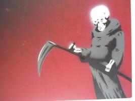 grim reaper stencil by INovumI