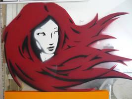 hairy stencil by INovumI