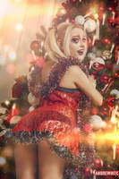 Harley Quinn Christmas Photoshoot by andrewhitc