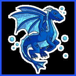 Water Dragon - Simple Concept Art by Draggaco