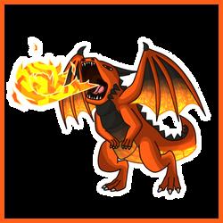 Fire Dragon - Simple Concept Art by Draggaco