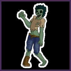 Zombie - Simple Concept Art by Draggaco