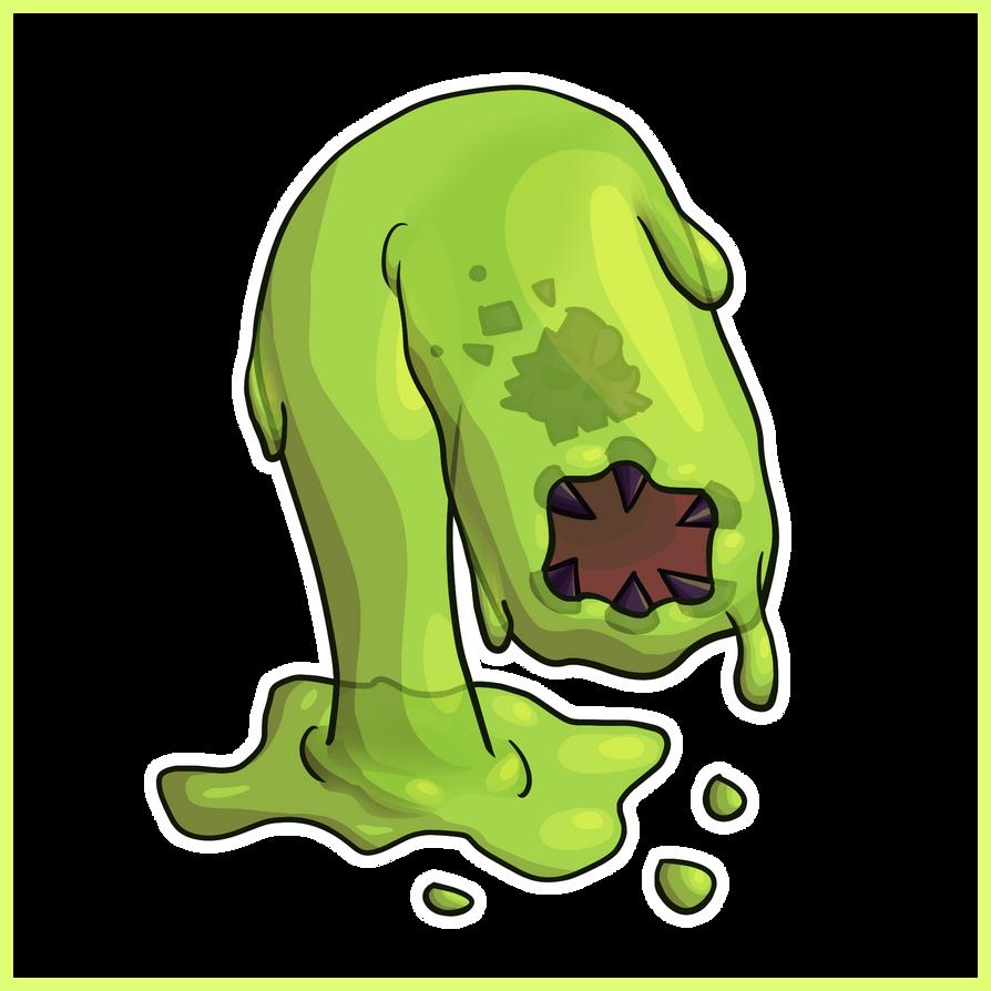 Acid Slime - Simple Concept Art by Draggaco