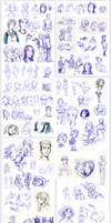 dump LXIII - ballpoint pen sketches by Ni-nig