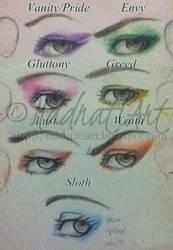 7 Deadly Sins  - make up by madnati-art