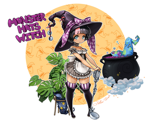 Hats Witch ADOPT [CLOSED] by Yellow-adoptables
