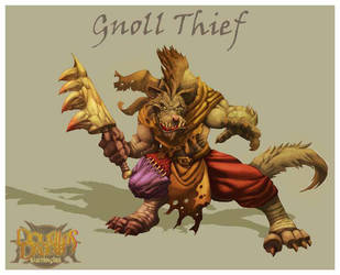 Gnoll Thief by DOUGLASDRACO