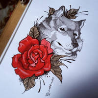 Wolf_Tattoo Design by DOUGLASDRACO